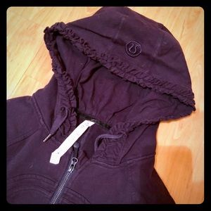 Lululemon Movement Jacket ruffled hoodie grape